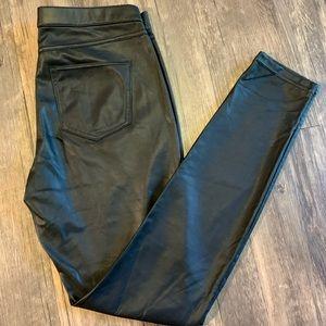 Hue Faux Leather Black Leggings